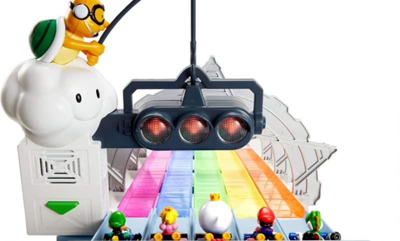New Hot Wheels Mario Kart Rainbow Road track revealed