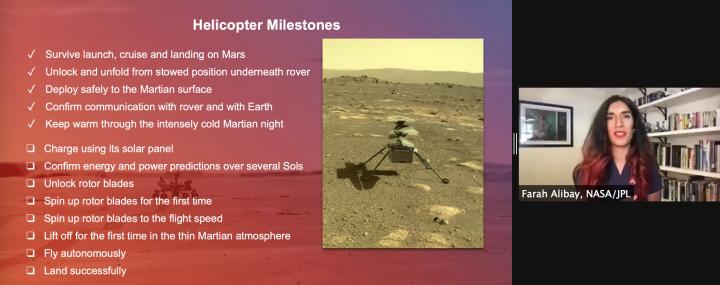 List of NASA ingenuity milestones, photo credit: NASA